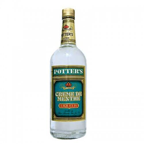 Potter's Creme de Menthe (White) - litre