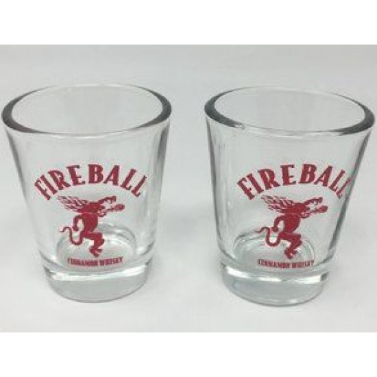 Fireball Cinnamon Whisky Liqueur - Litre complementary with 6 pcs of Fireball shooter glass