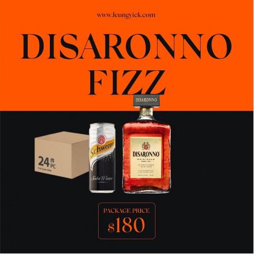 Disaronno Originale + Schweppes Soda Water - can