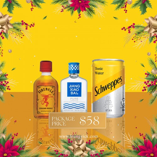 JIANGXIAOBAI (Pure Series) P50 + Fireball miniature + Schweppes Tonic Water mini can