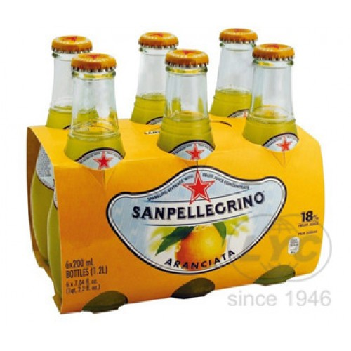 San Pellegrino Orange Carbonated Fruit Drinks - per case