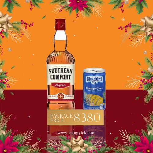Southern Comfort + U.S.A. Bluebird Pineapple Juice (Box)