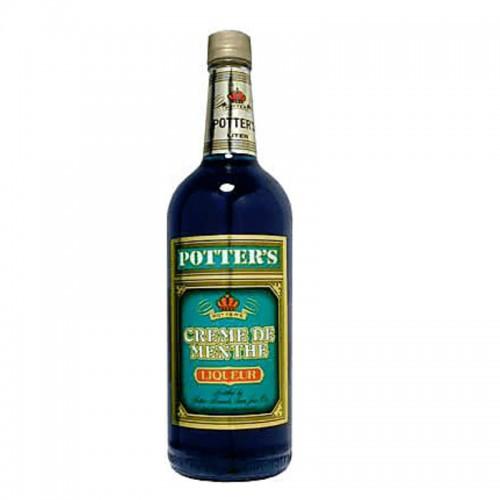 Potter's Creme de Menthe (Green) - litre