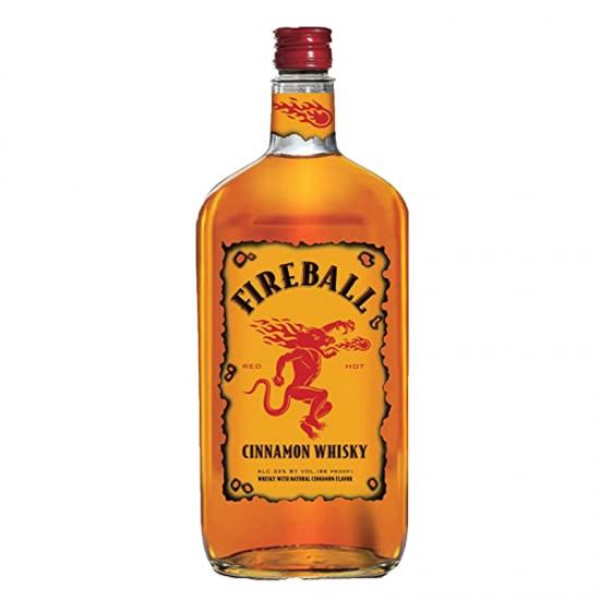 Fireball Cinnamon Whisky Liqueur - Litre complementary with 6 pcs of Fireball shooter glass