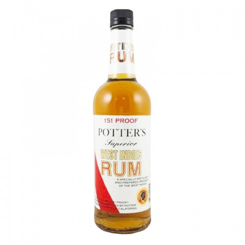 Potter's Superior V.I. Gold Rum 151 Proof - litre