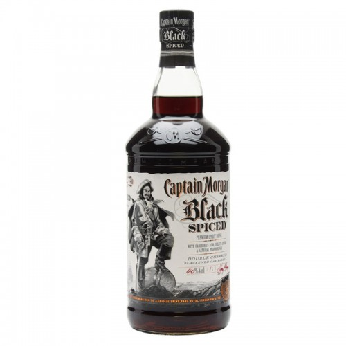 Captain Morgan Black Spiced Rum - litre