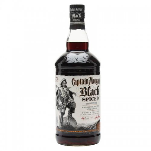 Captain Morgan Black Spiced Rum - litre
