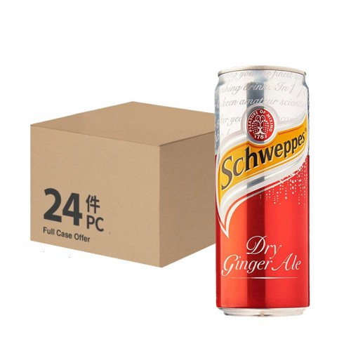Schweppes Dry Ginger Ale (can) - per case