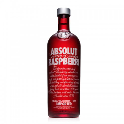 Absolut Vodka (Raspberri) - litre