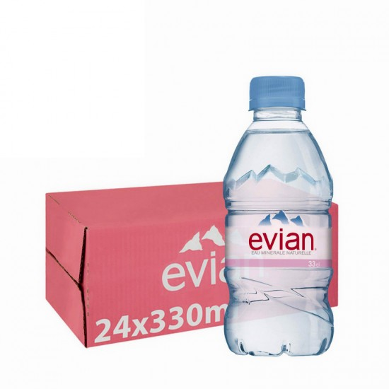 Evian Mineral Water (330ml) - per case