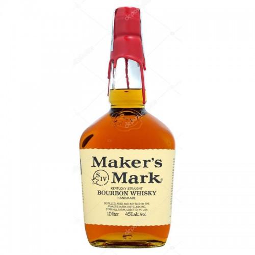 Maker's Mark Bourbon Whisky (Red Top) - litre