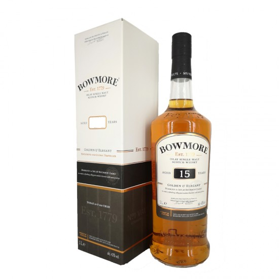 Bowmore 15 Years Single Malt Whisky - litre