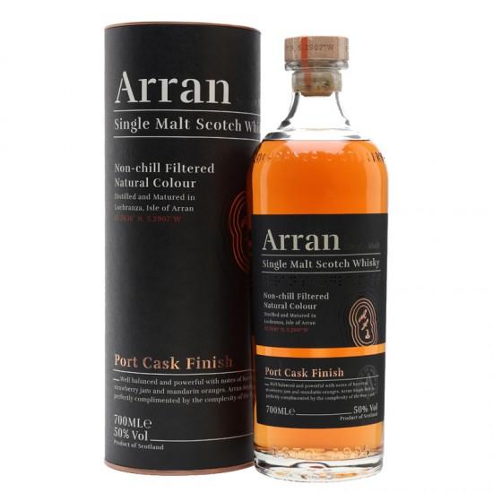 Arran Single Malt Whisky (Port Cash Finish)